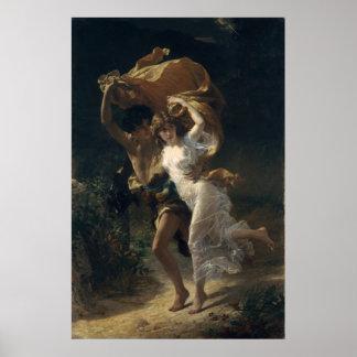 La tormenta - choza de Pedro-Auguste Póster