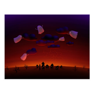 La tormenta de acopio (noche de Halloween) Tarjetas Postales