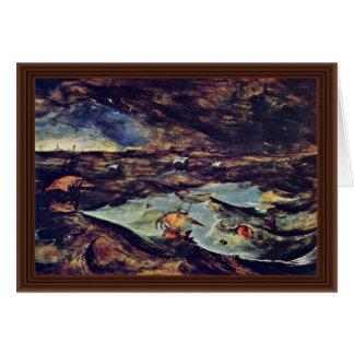 La tormenta del mar por Bruegel D. Ä. Pieter Tarjetas