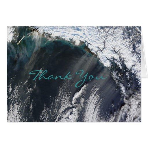 La tormenta del polvo de Alaska le agradece tarjet Tarjetas