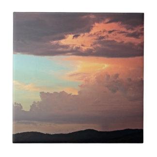 La tormenta en colores pastel azulejo cuadrado pequeño