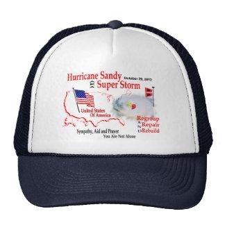La tormenta estupenda de Sandy del huracán reagrup Gorras De Camionero