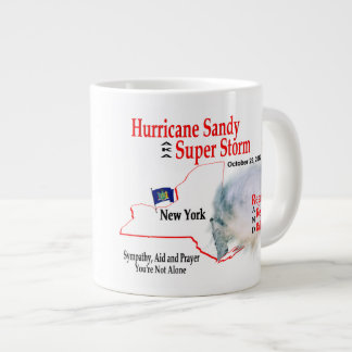 La tormenta estupenda de Sandy del huracán reagrup Taza Jumbo