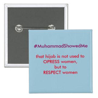 La tormenta Muhammmad de Hashtag del gorjeo me Pin Cuadrada 5 Cm