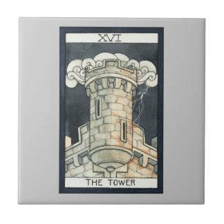 La torre azulejo cuadrado pequeño