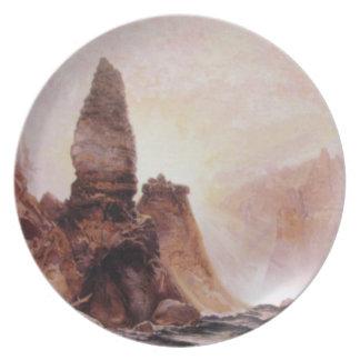 La torre cae en Yellowstone - 1876 Plato De Cena
