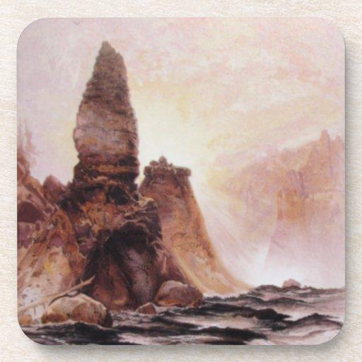 La torre cae en Yellowstone - 1876 Posavasos De Bebida