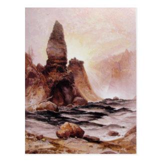 La torre cae en Yellowstone - 1876 Tarjeta Postal