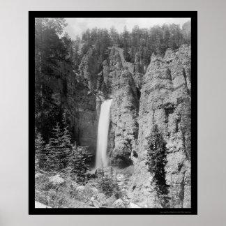 La torre cae Yellowstone 1899 Póster