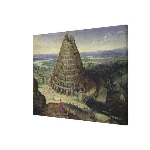 La torre de Babel, 1594 Impresión En Lienzo