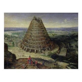 La torre de Babel, 1594 Tarjeta Postal
