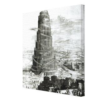 La torre de Babel, 1679 Impresion De Lienzo
