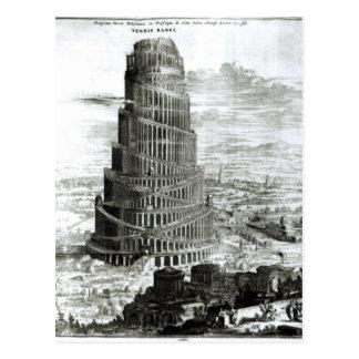 La torre de Babel, 1679 Tarjeta Postal