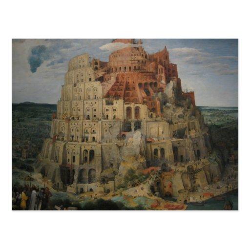 La torre de Babel de Bruegel Postal