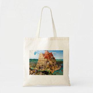 La torre de Babel Pieter Bruegel el más viejo arte Bolsa Tela Barata
