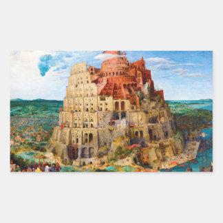 La torre de Babel Pieter Bruegel el más viejo arte Rectangular Altavoz