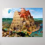 La torre de Babel Pieter Bruegel el más viejo arte Póster