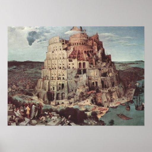 La torre de Babel - Pieter Bruegel la anciano Poster
