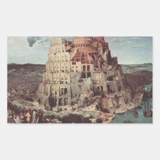 La torre de Babel - Pieter Bruegel la anciano Rectangular Altavoz