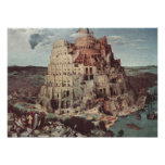 La torre de Babel - Pieter Bruegel la anciano Póster