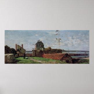 La torre de Francois Ier en Le Havre, 1852 Póster