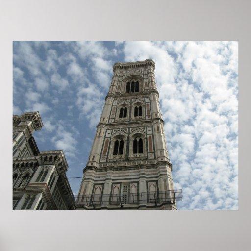 La torre de Giotto, Florencia, Italia Póster