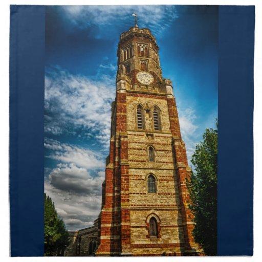 La torre de la linterna servilleta de papel