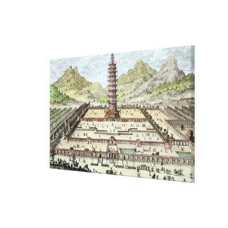 La torre de la porcelana de Nanking, platea 12 de  Impresiones En Lienzo Estiradas