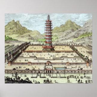 La torre de la porcelana de Nanking, platea 12 de  Poster
