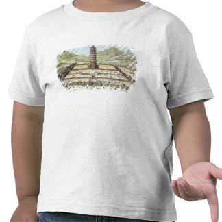 La torre de la porcelana de Nanking platea 12 de Camisetas