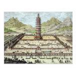 La torre de la porcelana de Nanking, platea 12 de Postal