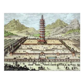 La torre de la porcelana de Nanking, platea 12 de  Tarjeta Postal