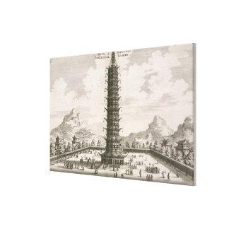 La torre de la porcelana, de una cuenta de un Em h Impresiones De Lienzo