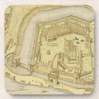 La torre de Londres, de una encuesta hecha en 1597 Posavasos De Bebida