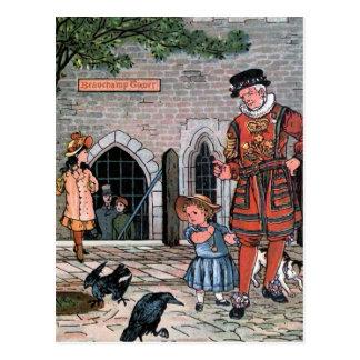 """La """"torre de Londres Ravens"""" el ejemplo del Postales"""