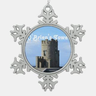 La torre de O'Brien Adorno De Peltre En Forma De Copo De Nieve