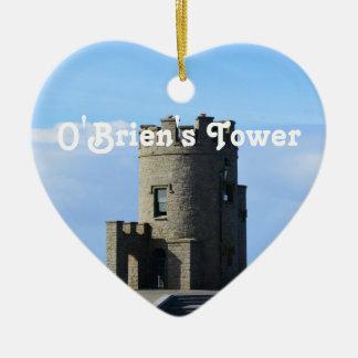 La torre de O'Brien Adorno De Cerámica En Forma De Corazón