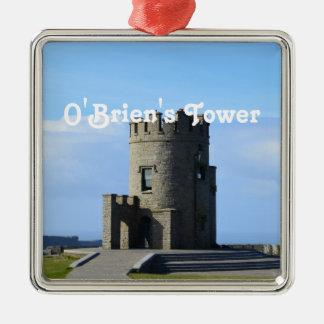 La torre de O'Brien Adorno Cuadrado Plateado
