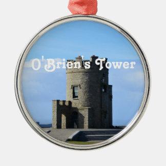 La torre de O'Brien Adorno Redondo Plateado