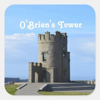 La torre de O'Brien Pegatina Cuadradas Personalizada