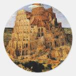 """La torre de Pieter Bruegel """"de Babel"""" (circa 1563) Pegatina"""