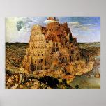 "La torre de Pieter Bruegel ""de Babel"" (circa 1563) Póster"