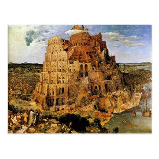 """La torre de Pieter Bruegel """"de Babel"""" (circa 1563) Postal"""