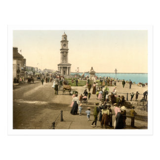 La torre de reloj, bahía de Herne, Kent, Postal