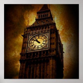 La torre de reloj impresiones