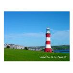La torre de Smeaton, la azada, postal de Plymouth