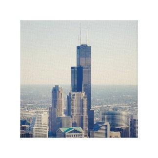 La torre de Willis (ehrm… Sears) Lona Envuelta Para Galerias