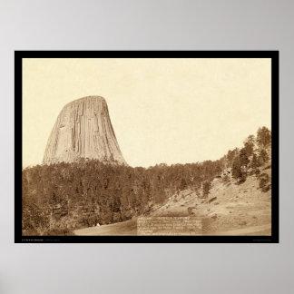 La torre del diablo o casa de campo WY 1888 del os Póster