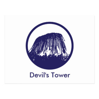 La torre del diablo postal