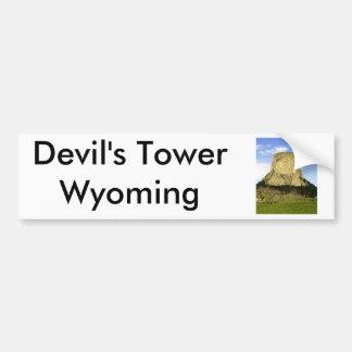 La torre del diablo, Wyoming Etiqueta De Parachoque